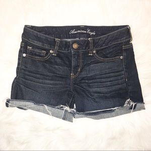 American Eagle midrise cut off jean shorts size 10
